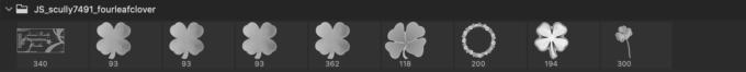 フォトショップ ブラシ Photoshop Clover Brush 無料 イラスト クローバー 四つ葉 Four Leaf Clover Brushes