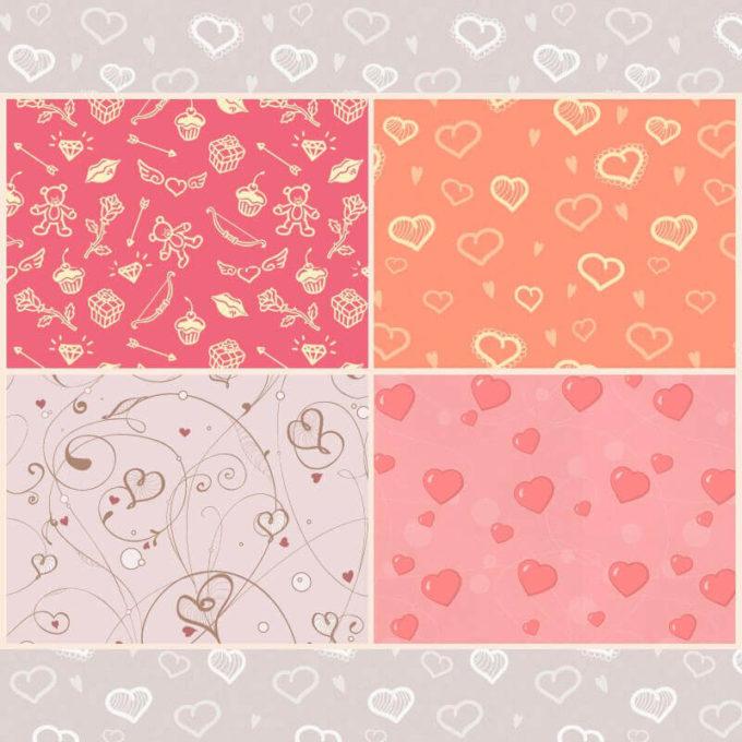 Photoshop Patterns Valentine フォトショップ パターン テクスチャー バレンタイン Free St Valentine's Day Patterns