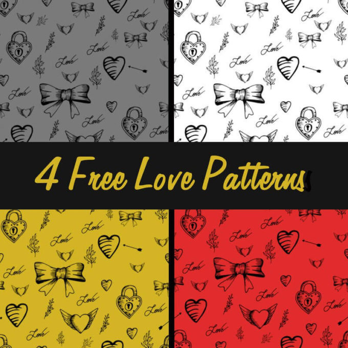 Photoshop Patterns Valentine フォトショップ パターン テクスチャー バレンタイン 4 Free Love Patterns