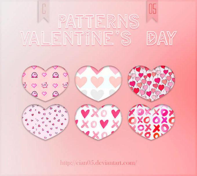 Photoshop Patterns Valentine フォトショップ パターン テクスチャー バレンタイン Pattern Valentine's Day [Cian05]