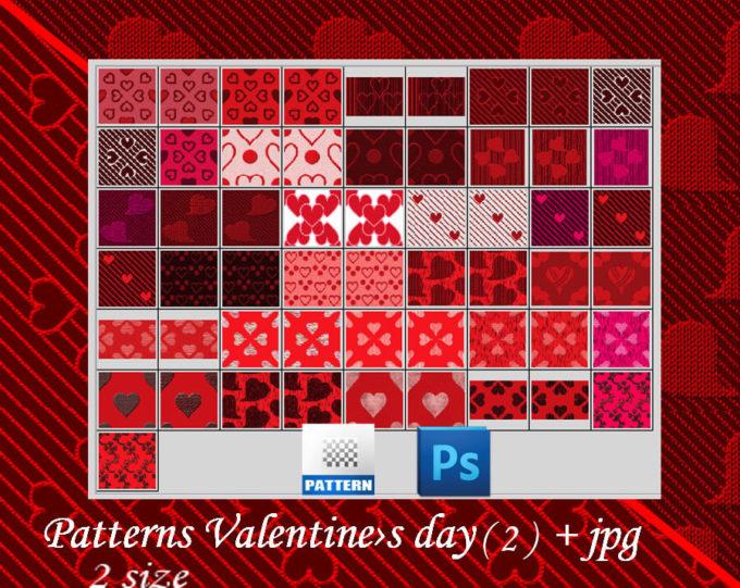 Photoshop Patterns Valentine フォトショップ パターン テクスチャー バレンタイン Valentine's Day seamless patterns