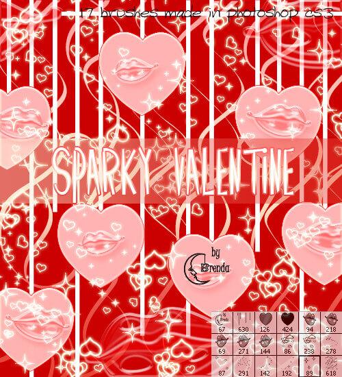 フォトショップ ブラシ Photoshop Cherry Blossoms Brush 無料 イラスト バレンタイン Sparky Valentine Brushes