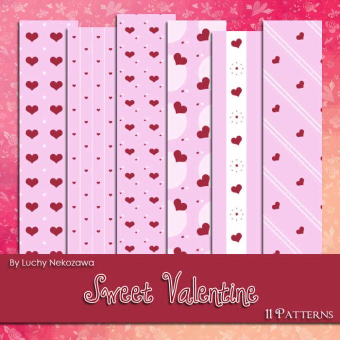 Photoshop Patterns Valentine フォトショップ パターン テクスチャー バレンタイン Sweet Valentine Patterns