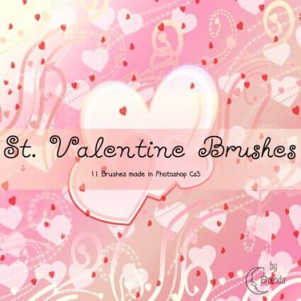 フォトショップ ブラシ Photoshop Cherry Blossoms Brush 無料 イラスト バレンタイン St. Valentine Brushes