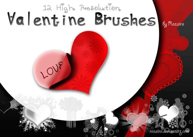 フォトショップ ブラシ Photoshop Cherry Blossoms Brush 無料 イラスト バレンタイン Valentine Brushes