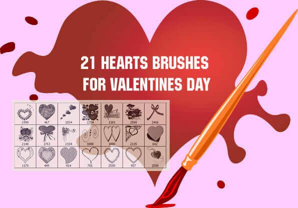 フォトショップ ブラシ Photoshop Cherry Blossoms Brush 無料 イラスト バレンタイン Valentine Clip Art Volume I: 20 Photoshop Brushes