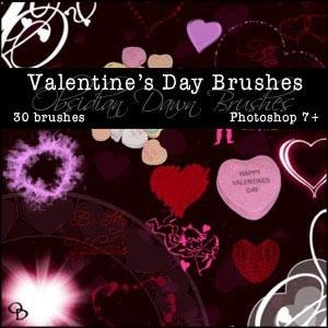 フォトショップ ブラシ Photoshop Cherry Blossoms Brush 無料 イラスト バレンタイン Valentines Day Brushes
