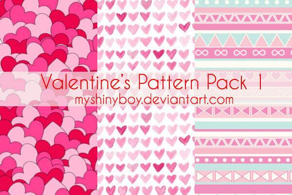 Photoshop Patterns Valentine フォトショップ パターン テクスチャー バレンタイン Valentine's Day Pattern Pack 1