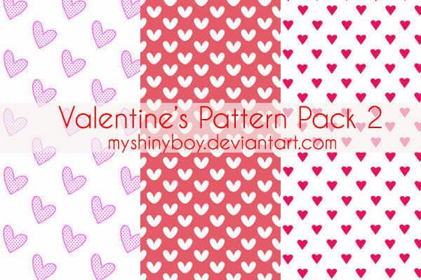Photoshop Patterns Valentine フォトショップ パターン テクスチャー バレンタイン Valentine's Day Pattern Pack 2