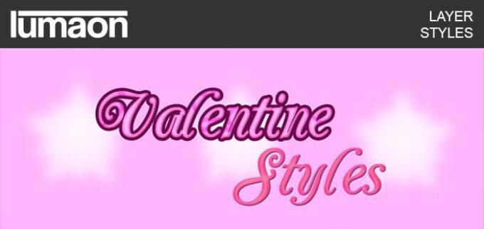 Photoshop Layer Style asl フォトショップ レイヤースタイル ハート バレンタイン Valentine Layer Styles