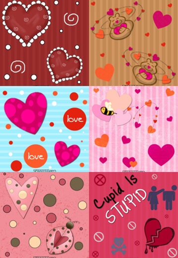 Photoshop Patterns Valentine フォトショップ パターン テクスチャー バレンタイン Valentine Pattern Set