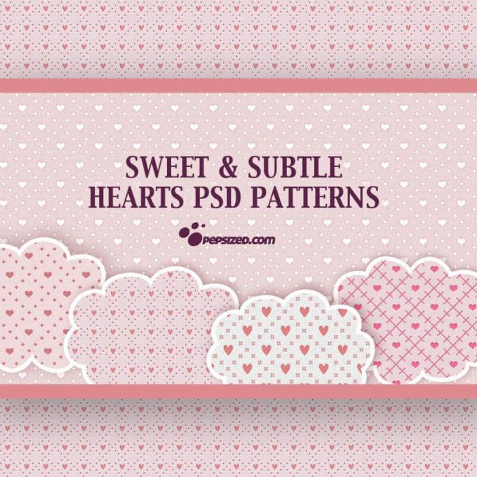 Photoshop Patterns Valentine フォトショップ パターン テクスチャー バレンタイン Free Hearts PSD Patterns