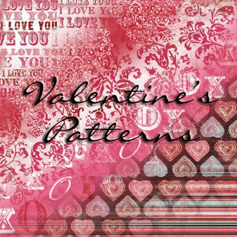 Photoshop Patterns Valentine フォトショップ パターン テクスチャー バレンタイン Be My Valentine
