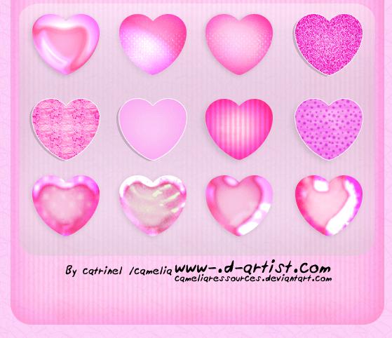 Photoshop Layer Style asl フォトショップ レイヤースタイル ハート バレンタイン Pink photoshop layer styles 2