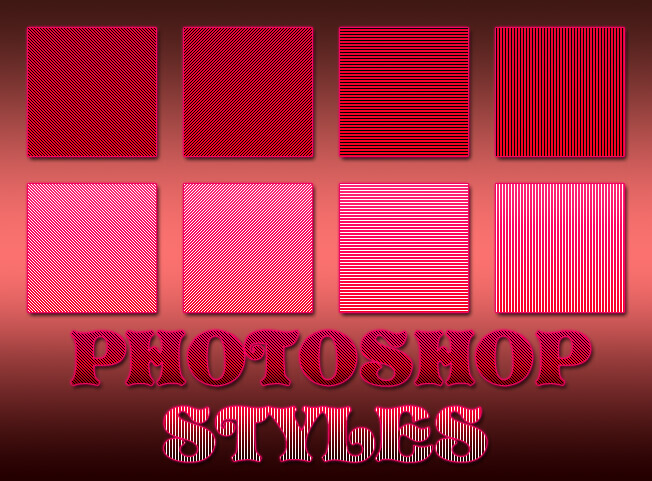 フォトショップ レイヤースタイル Photoshop Heart Layer Style asl ハート バレンタイン 8 Free Rare Striped Photoshop Layer Styles