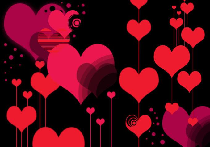"""フォトショップ ブラシ Photoshop Cherry Blossoms Brush 無料 イラスト バレンタイン Vector 'Style"""" Heart Photoshop Brushes"""