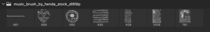 Adobe CC フォトショップ ブラシ Photoshop Music Note Brush 無料 イラスト 音楽 音符 楽譜 譜面 Music Brush