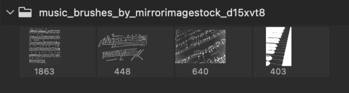 Adobe CC フォトショップ ブラシ Photoshop Music Note Brush 無料 イラスト 音楽 音符 楽譜 譜面 Music Brushes