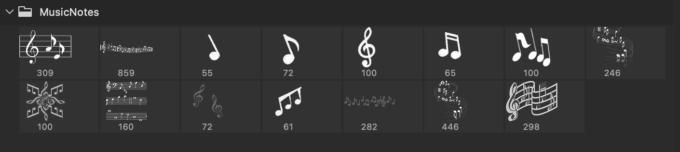 Adobe CC フォトショップ ブラシ Photoshop Music Note Brush 無料 イラスト 音楽 音符 楽譜 譜面 Music Note 11