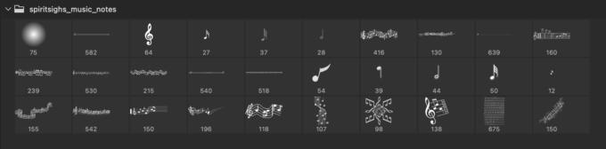 Adobe CC フォトショップ ブラシ Photoshop Music Note Brush 無料 イラスト 音楽 音符 楽譜 譜面 Musical Notes 24