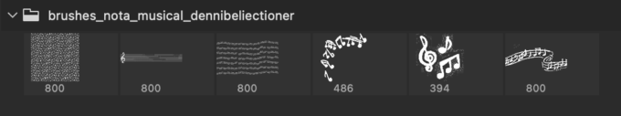 Adobe CC フォトショップ ブラシ Photoshop Music Note Brush 無料 イラスト 音楽 音符 楽譜 譜面 Musical Notes
