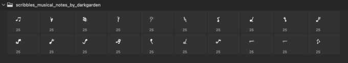 Adobe CC フォトショップ ブラシ Photoshop Music Note Brush 無料 イラスト 音楽  音符 楽譜 譜面 Music Photoshop and GIMP Brushes