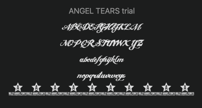 Free Font Design 無料 フリー フォント 追加 デザイン 筆記体 Angel Tears
