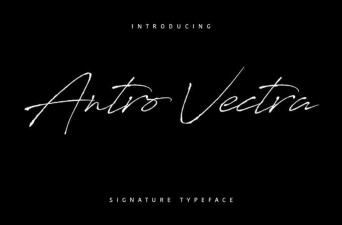 Free Font Design 無料 フリー フォント 追加 デザイン 筆記体 Antro Vectra Script Font