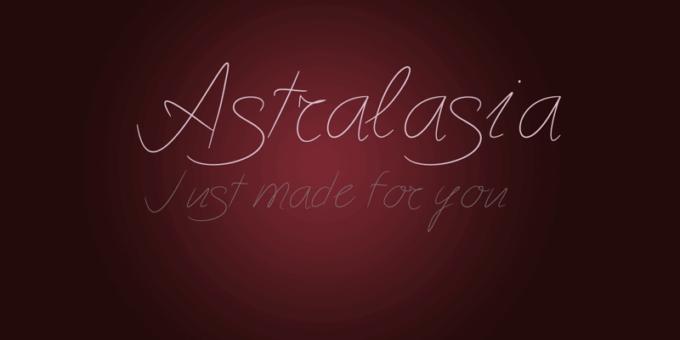 Free Font Design 無料 フリー フォント 追加 デザイン Astralasia