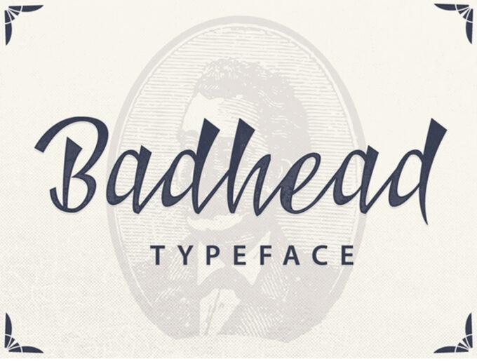 Free Font Design 無料 フリー フォント 追加 デザイン 筆記体 BADHEAD