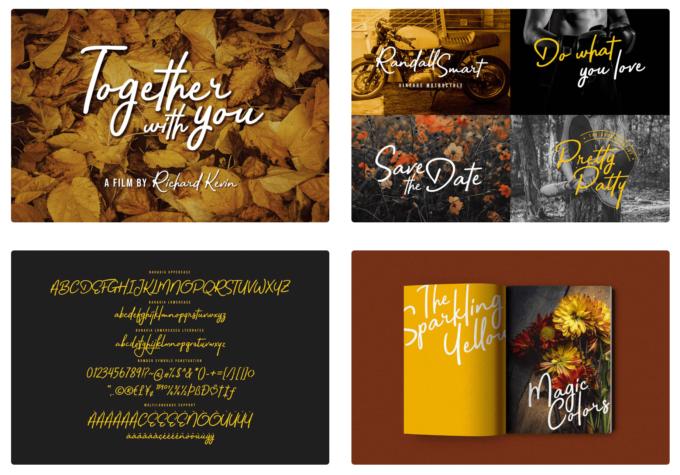 Free Font Design 無料 フリー フォント 追加 デザイン 筆記体 Bahagia