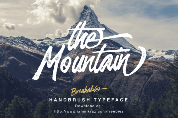 Free Font Design 無料 フリー フォント 追加 デザイン 筆記体 Breakable Free Typeface