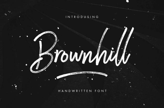 Free Font Design 無料 フリー フォント 追加 デザイン 筆記体 Brownhill