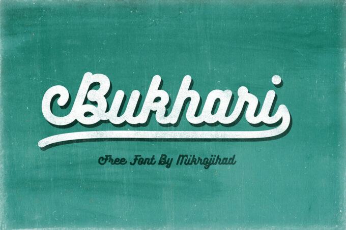 Free Font Design 無料 フリー フォント 追加 デザイン 筆記体 Bukhari