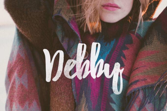 Free Font Design 無料 フリー フォント 追加 デザイン 筆記体 Debby