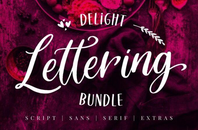 Free Font Design 無料 フリー フォント 追加 デザイン 筆記体 Delight Lettering