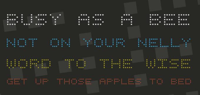 Free Font Digital 無料 フリー おすすめ フォント 追加 デジタル Square Dot Digital-7