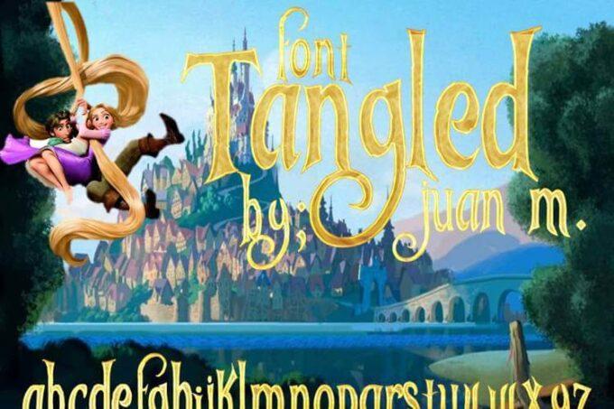 Free Font 無料 フリー おすすめ フォント 追加  ディズニー 塔の上のラプンツェル Tangled
