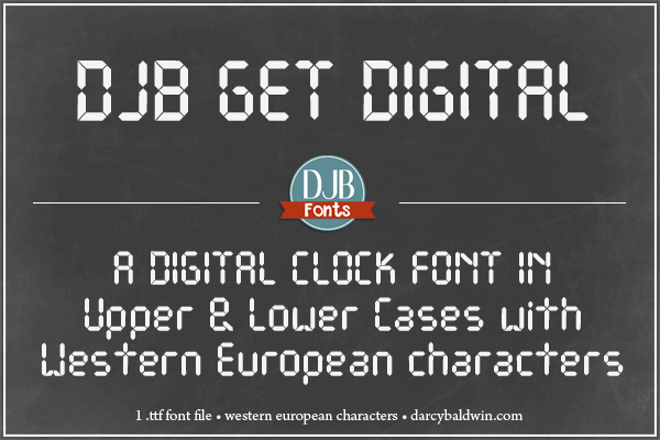 Free Font Digital 無料 フリー おすすめ フォント 追加 デジタル DJB Get Digital