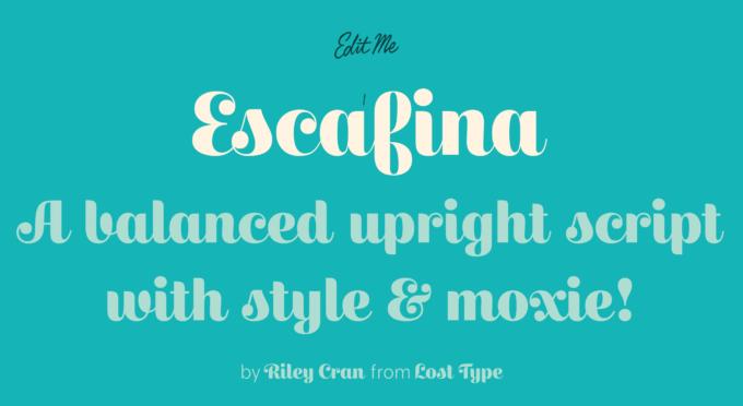 Free Font Design 無料 フリー フォント 追加 デザイン 筆記体 ESCAFINA