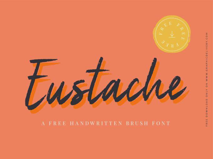 Free Font Design 無料 フリー フォント 追加 デザイン 筆記体 Eustache