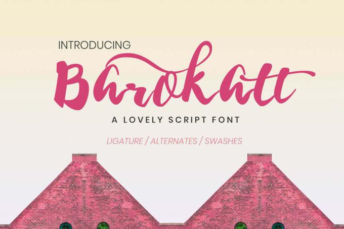 Free Font Design 無料 フリー フォント 追加 デザイン 筆記体 Free Barokatt Script Font