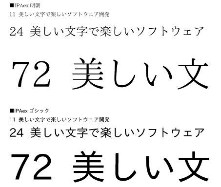 Free Font 無料 フリー おすすめ フォント 追加  IPAフォント