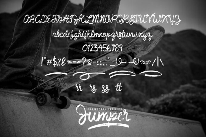 Free Font Design 無料 フリー フォント 追加 デザイン 筆記体 Jumper Handwritten Font