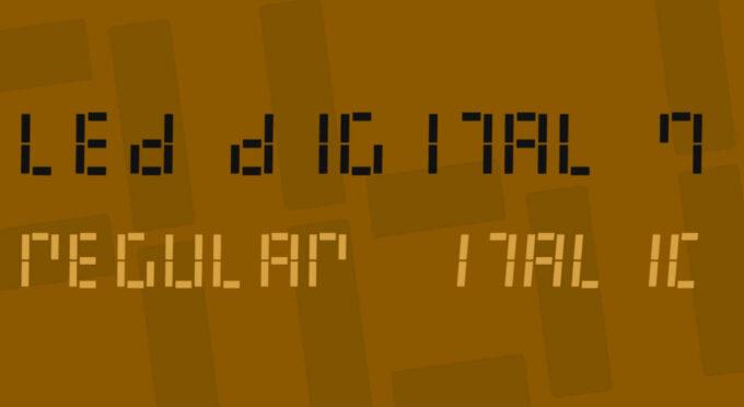 Free Font Digital 無料 フリー おすすめ フォント 追加 デジタル LED Digital 7