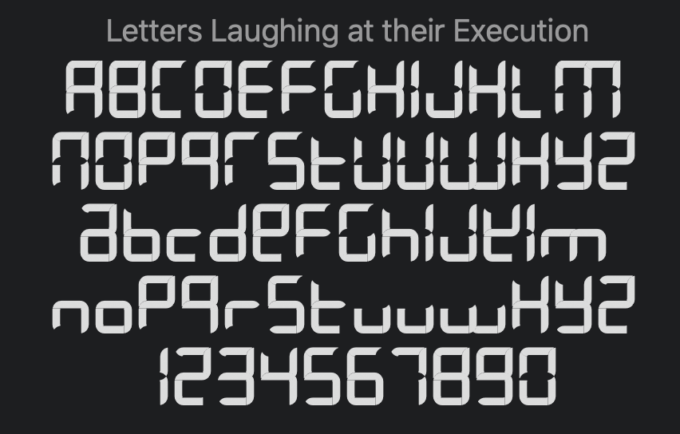 Free Font Digital 無料 フリー おすすめ フォント 追加 デジタル Letters Laughing