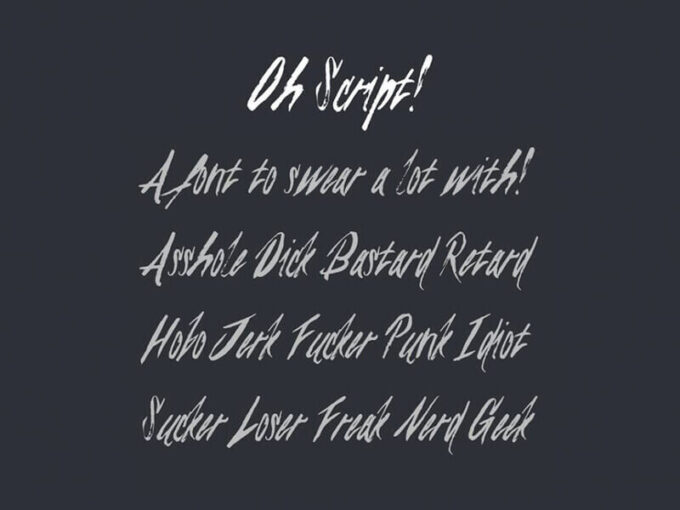 Free Font Design 無料 フリー フォント 追加 デザイン 筆記体 Oh Script!