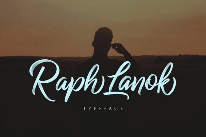 Free Font Design 無料 フリー フォント 追加 デザイン 筆記体 Raph Lanok Script Free Demo