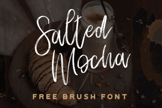Free Font Design 無料 フリー フォント 追加 デザイン SALTED MOCHA