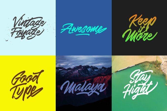 Free Font Design 無料 フリー フォント 追加 デザイン 筆記体 Skywalker Brush Font